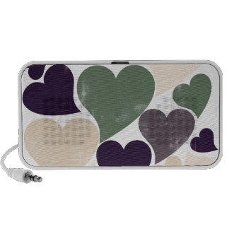 Retro Heart Design Laptop Speaker