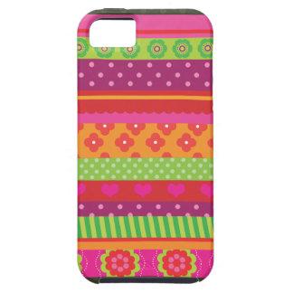 Retro heart flower polka dot design iphone case