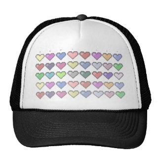 Retro Hearts Cap