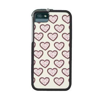 Retro Hearts iPhone 5/5S Case