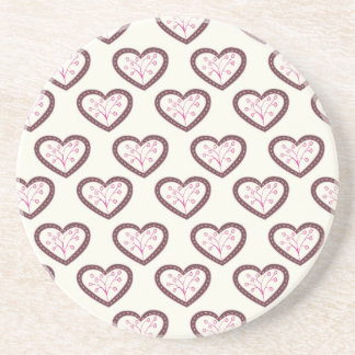 Retro Hearts Drink Coasters