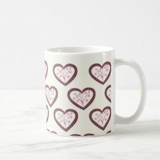 Retro Hearts Mugs