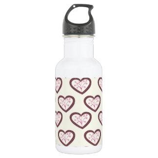 Retro Hearts 532 Ml Water Bottle