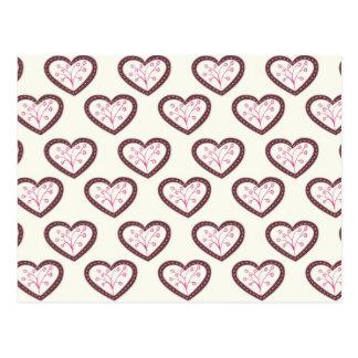 Retro Hearts Postcard
