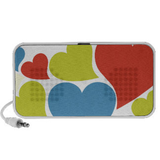 Retro Hearts Laptop Speaker