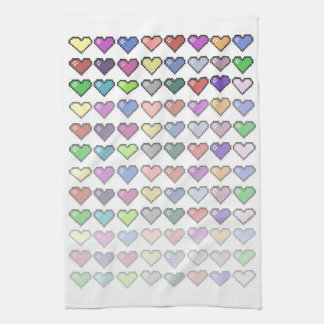 Retro Hearts Towel