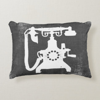 Retro Hello Telephone Pattern Decorative Cushion