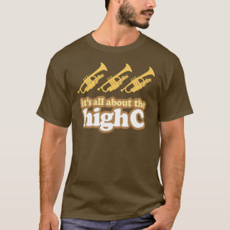 Retro High C Funny Trumpet Gift Tee Shirt