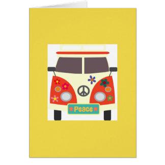 Retro Hippie Bus Greeting Card
