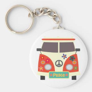 Retro Hippie Bus Keychain