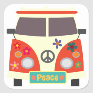 Retro Hippie Bus Stickers