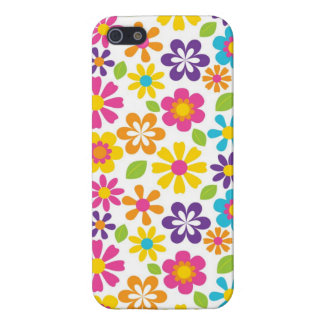Retro Hippie Flowers Cool iPhone 5 Cases for Girls