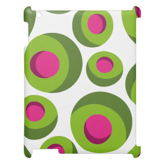 Retro hippie pattern with colored dots cover for the iPad 2 3 4