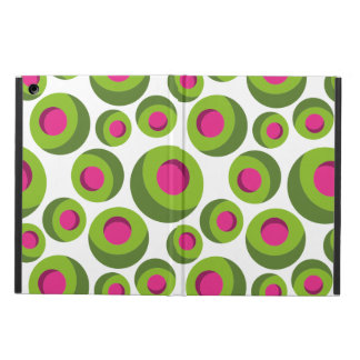 Retro hippie pattern with colored dots iPad air cover