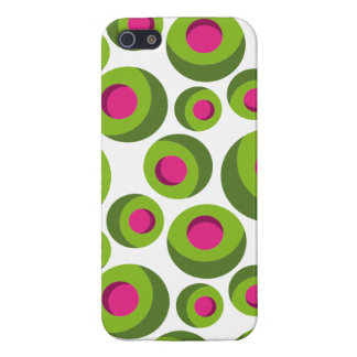 Retro hippie pattern with colored dots iPhone 5 case