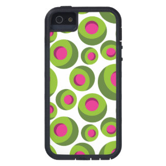 Retro hippie pattern with colored dots iPhone 5 cases