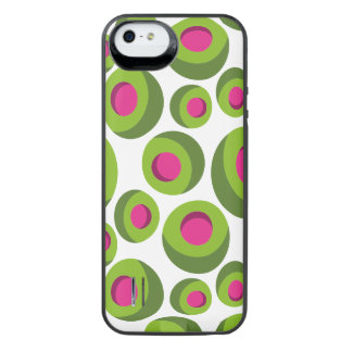 Retro hippie pattern with colored dots iPhone SE/5/5s battery case