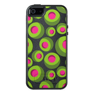 Retro hippie pattern with colored dots OtterBox iPhone 5/5s/SE case