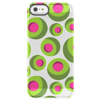 Retro hippie pattern with colored dots permafrost® iPhone SE/5/5s case