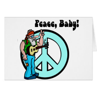 Retro Hippie-Peace Baby 60's Greeting Card