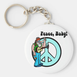 Retro Hippie-Peace Baby 60's Keychains