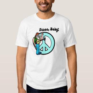 Retro Hippie-Peace Baby 60's Tees