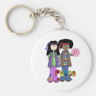 Retro Hippies Keychain ~ Flower Power 1960s!