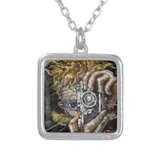 Retro Hipster Selfie Silver Plated Necklace