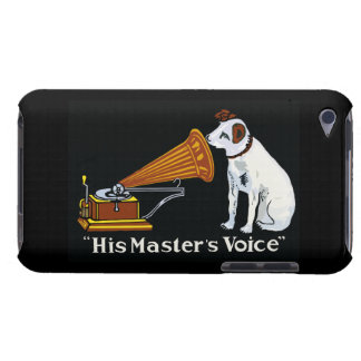 Retro his master's voice gramophone ad iPod touch cover