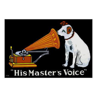 Retro his master's voice gramophone ad posters
