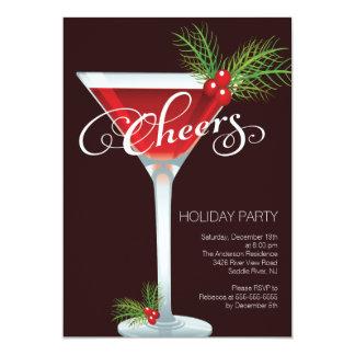 Retro Holiday Cocktail Party Invitation