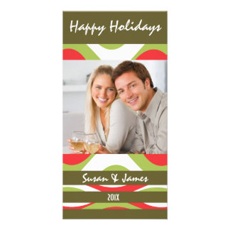 Retro Holiday Photo Card Announcement