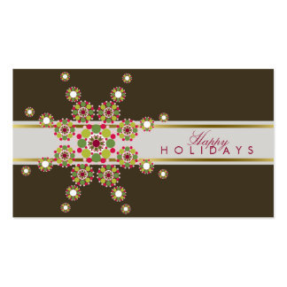 Retro Holiday Stars Christmas Thank You Gift Tag / Pack Of Standard Business Cards