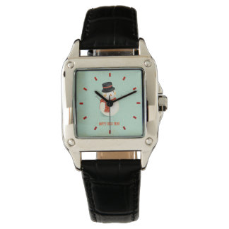 Retro Holiday Women's Black Leather Watch