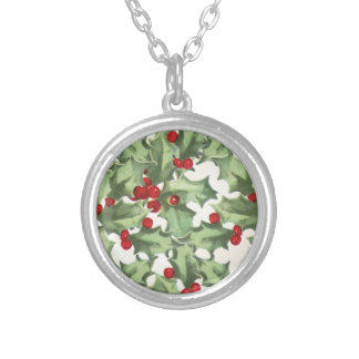 Retro Holly Silver Plated Necklace