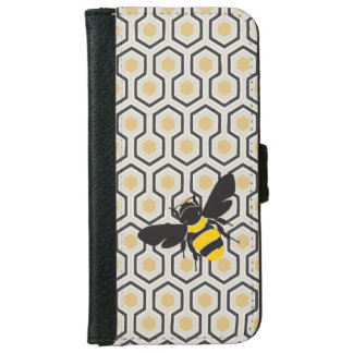 Retro Honeycomb Pattern Beehive iPhone 6 Wallet Case
