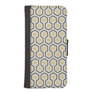Retro Honeycomb Pattern Beehive iPhone 5 Wallets