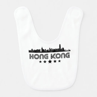 Retro Hong Kong Skyline Bib