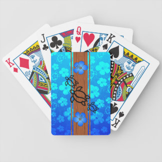 Retro Honu Surfboard Bicycle Playing Cards