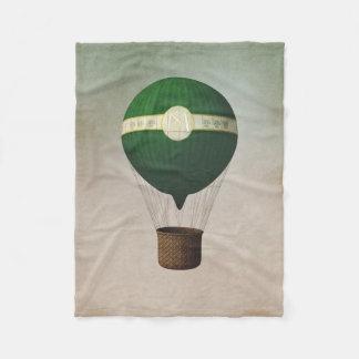 Retro Hot Air Balloon Small Fleece Blanket
