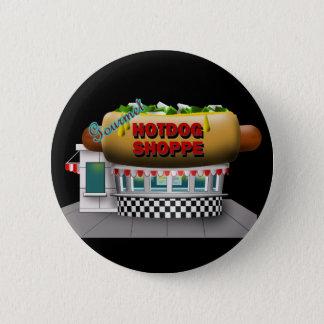 Retro Hot Dog Shoppe 6 Cm Round Badge