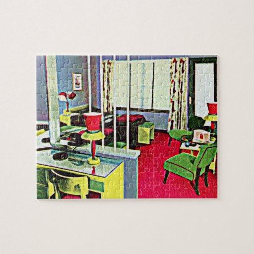 Retro Hotel Room Jigsaw Puzzle