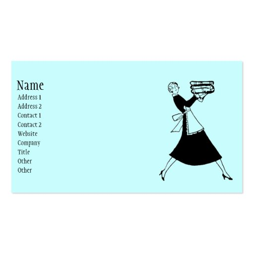 Retro housekeeper business card templates zazzle for Housekeeper business card examples