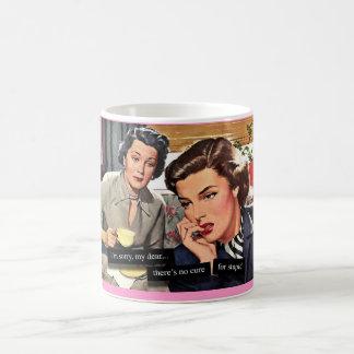 "Retro housewife ""No Cure for Stupid"" Coffee Mug"