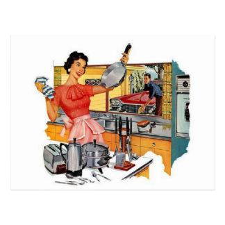 Retro Housewife Postcard