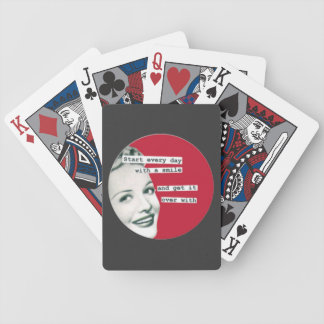 """Retro Housewife """"Start the Day with a Smile"""" Cards Poker Deck"""