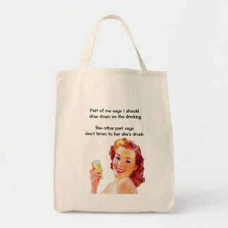 Retro Housewife with Cocktail Funny Drunk Quote