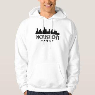 Retro Houston Skyline Hoodie
