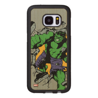 Retro Hulk Smash! Wood Samsung Galaxy S7 Case