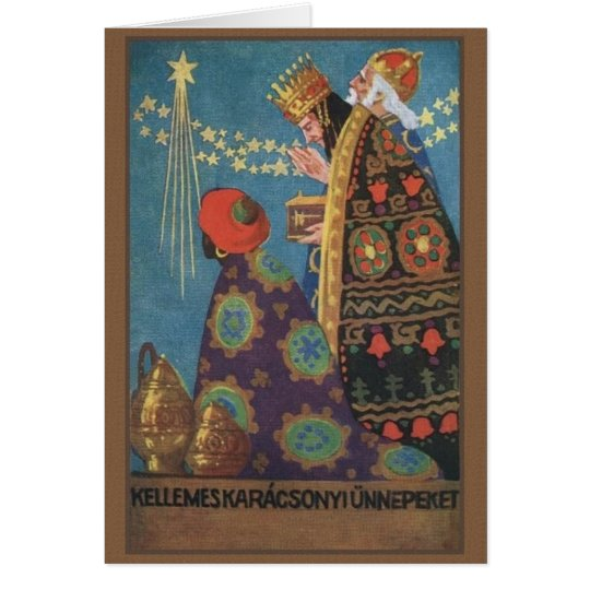 Retro Hungarian Karácsonyi Christmas Card